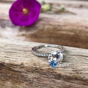 1 CT Round Cut Moissanite Ring / Make To Order